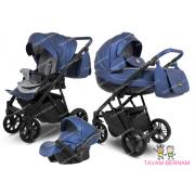 Camarelo Zeo Eco 3-1 ZeoEco-3 (Eko āda tumši zila) bērnu universālie rati